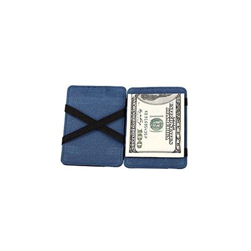 Leder Geldbörse Mini Neutral Grind magische BifoldCard Halter Portemonnaie Geldbörse Tefamore