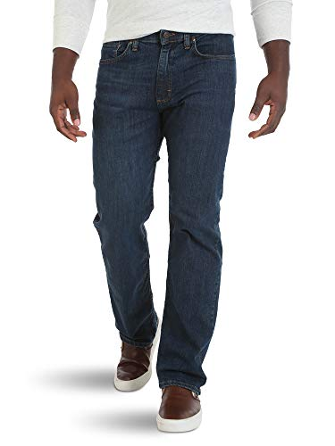 Wrangler Authentics Men's Comfort Flex Waist Relaxed Fit Jean, Carbon, 38x34 (Best Relaxed Jeans For Men)