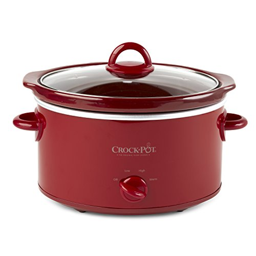 CrockPot SCV401TR 4Quart Manual Slow Cooker Red