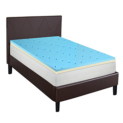 Gel infused high density foam topper for twin size for Orthopedic mattress