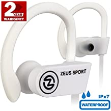 Wireless Headphones IMPROVED 2018 - HD Stereo Sound – Waterproof IPx7 - Best Wireless Earbuds with Microphone - Running Headphones - Sport Headphones - Workout Headphones - Sports Earbud Headphones