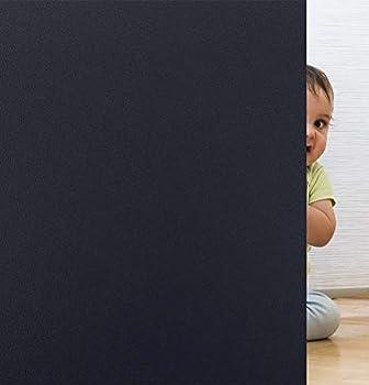 Coavas Non Adhesive Window Blackout Film