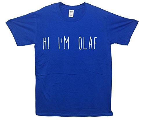 Hi I'm Olaf T-Shirt - Blau - XX-Large (127cm-132cm)