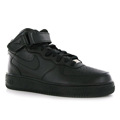 premium selection be662 f90e6 Galleon - Nike Men s Air Force 1 Mid  07 Black Black Black Basketball Shoe, 11  D(M) US