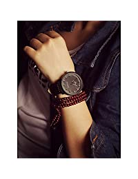 Watches, Unisex Large Dial Vintage Mens Watch Simple Womens Wrist Watch Students Watch ( Color : Black , Gender : For Lady )