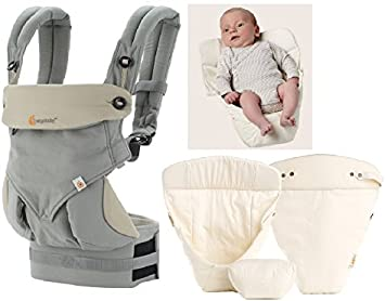 ERGObaby 360 Pack evolutivo Porta bebé Grey + cojín bebé Natural ...