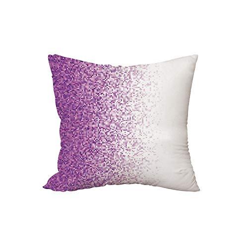 iPrint Polyester Throw Pillow Cushion,Magenta Decor,Computer Art Style