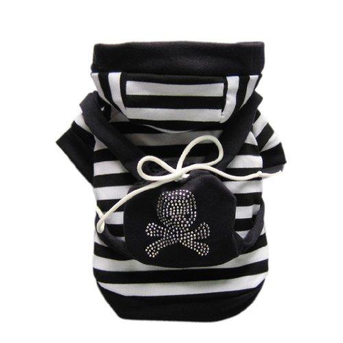Black Collegiate Cool Skull Dog Coat Dog Sweatshirt Cozy Pet Cat Clothes + Cute Bag Free Shipping,S, My Pet Supplies