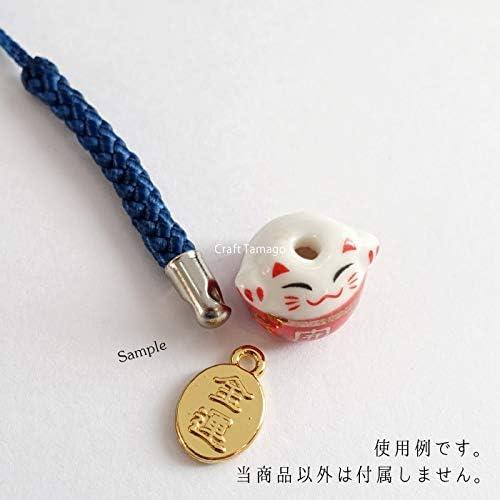 Craft Tamago 【10個】金属チャーム 小判型 タグ 金運 & 御守