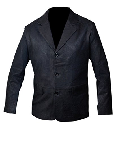 Black Leather Blazer Mens - 7