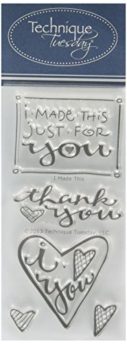 "Technique Tuesday Clear Stamps 2""X4""-I Made This"