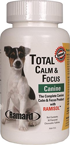 Ramard Total Calm and Focus Canine with Ramisol for Dogs, 30 Count Per Bottle