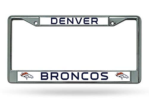 Denver Broncos Chrome License Plate Frame Yohoba