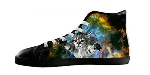 Dalliy Galaxie Katze Galaxy Cat Mens Canvas shoes Schuhe Lace-up High-top Footwear Sneakers A