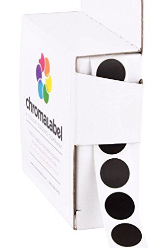 ChromaLabel 1/2 Inch Round Color Coding Labels | 1,000/Box -