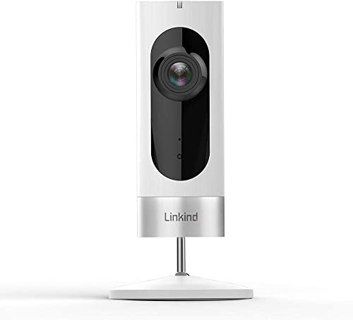 Linkind Indoor Security Camera, 1080p WiFi Smart Home Camera with Wide Angle Lens Motion Detection 2-way Audio, IR Night Vision, MicroSD Support Not Included , White