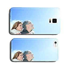 Portrait of happy senior couple in winter season cell phone cover case iPhone6