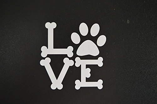 Edwin Group of Companies Love dog bones puppy pug retriever lab car truck window sticker