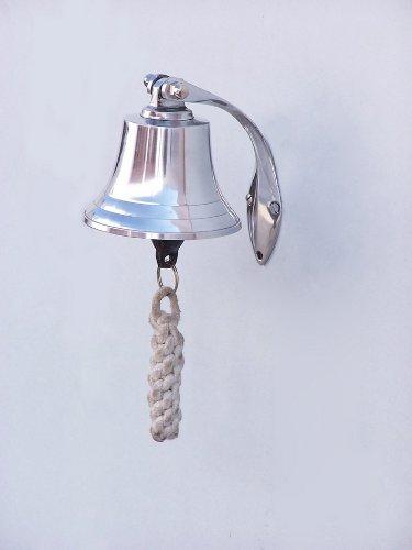Chrome Hanging Harbor Bell 4'' - Small Chrome Bell - Chrome Hanging Bell - Nauti