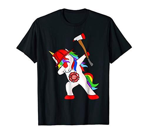 Firefightcorn Firefighter Unicorn Dabbing T-shirt Dab Dance -