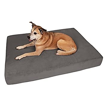 Image of Big Barker 7' Pillow Top Orthopedic Dog Bed for Large and Extra Large Breed Dogs (Sleek Edition) Pet Supplies