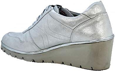 Callaghan 10309 Auriga sportschoen voor dames, zool aanpasbaar, zilver 38 EU