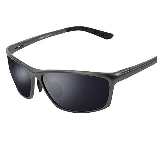 Duco Herren Sport-Art polarisierte Sonnenbrille Treiber Brille 2179S (Gunmetal)