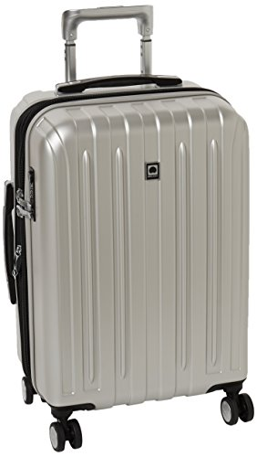 DELSEY Paris Luggage Carry-On Hard Case Spinner Suitcase, Silver, 21 inch (Antler Liquis Luggage Best Price)