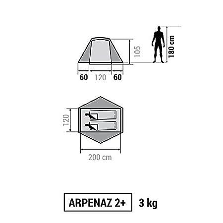 Decathlon - Tienda de campaña Arpenaz Camping Family, Hombre, ARPENAZ 2+: Amazon.es: Deportes y aire libre