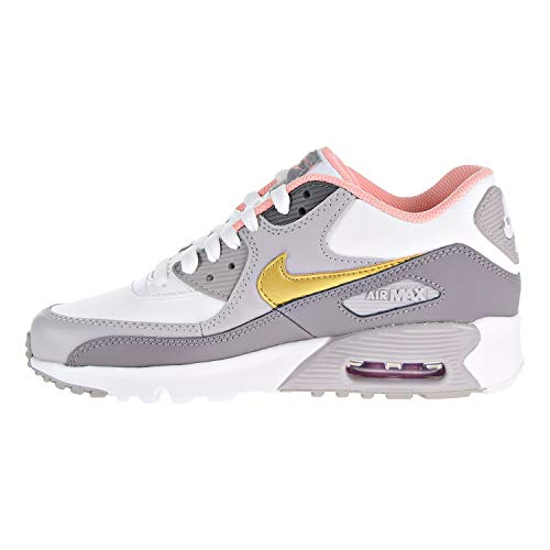 90 Gold Air Cuir Formateurs Nike Metallic GS Youth EU 36 LTR Max qw5t86