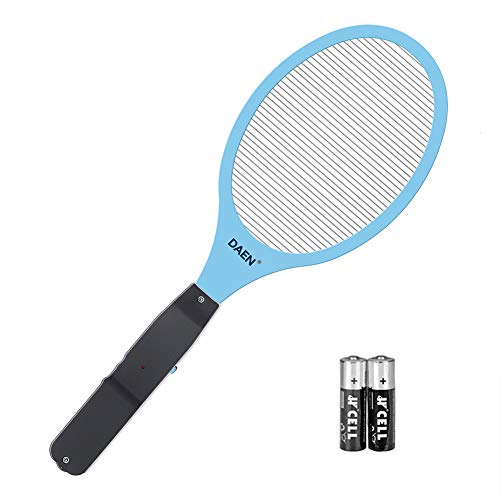 DAEN Electric Bug Zapper Fly Swatter Zap Mosquito Best Indoor Outdoor Pest Control(2xAA Batteries Included) (Blue) by DAEN