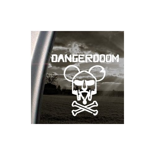 Danger Doom Mouse Mask Mf Hip-Hop White Color Laptop Art Die Cut Bike Car Vinyl Wall Auto Decoration Window Notebook Adhesive Vinyl Helmet Home Decor Car Macbook Sticker (Danger Mouse Mf Doom)