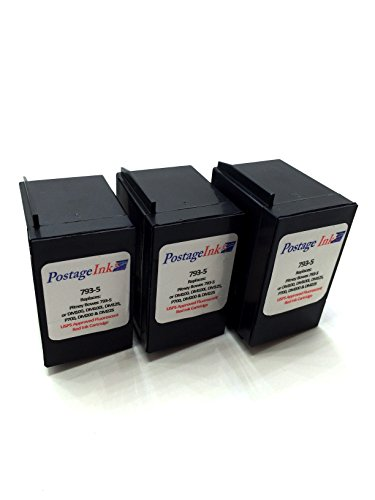 Pitney Bowes 793-5 Red Ink Cartridge (3-Pack) for P700, DM100, DM100i & DM200L Postage Meters
