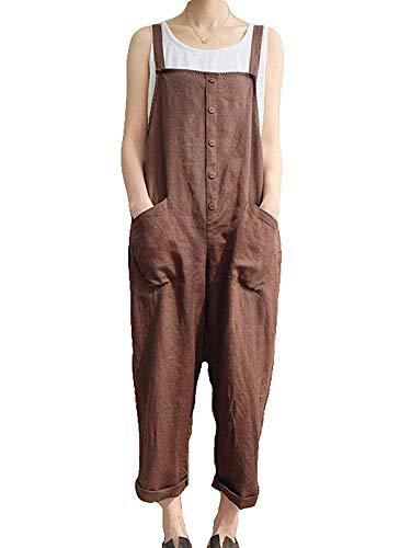 Gooket Women Plus Size Baggy Overalls Casual Wide Leg Haren Pants Rompers Jumpsuit Overalls Halloween -