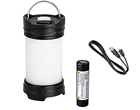 Bundle:Fenix CL25R 350 Lumens Rechargeable All Season Compact LED Camping Light, LumenTac Charging Adapters, (350 Lumen Light)