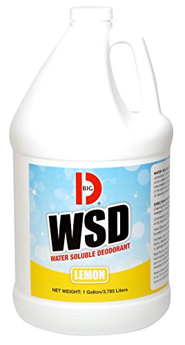 Big D 1618 Water Soluble Deodorant, Lemon Fragrance, 1 Gallon (Pack of 4) - Add to any cleaning solution - Ideal for use in hotels, food service, health care, schools and institutions