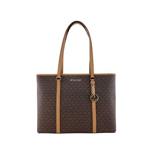 Michael Kors Womens Sady Multifunction Top Zip Tote Bag Brown L