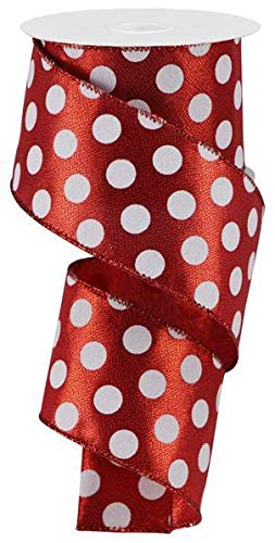 Metallic Polka Dot Wired Edge Ribbon - 2.5