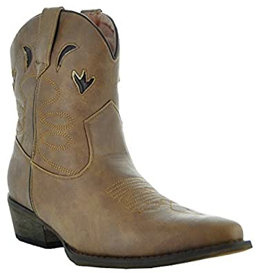Southwest Short Boots by Country Love Boots ZP-W04 (5.5)
