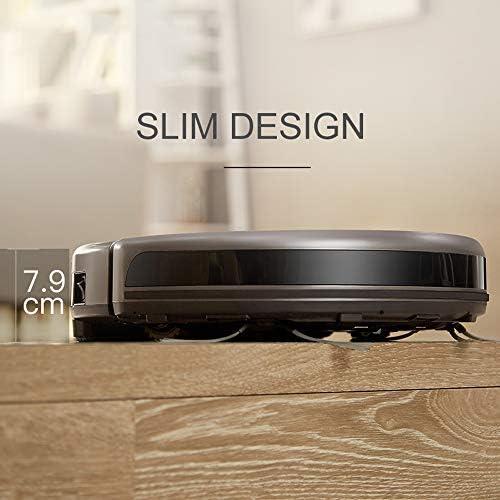Aspirateur Robot À Faible Bruit Design Slim Électrique De Commande Réservoir d\'eau Robot APP Commandes Accueil Robot Nettoyeur
