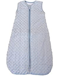 """Baby Sleeping Bag""""Minky Dot"""" Blue, Quilted Winter Model, 2.5 Togs (Medium (10-24 mos))"""