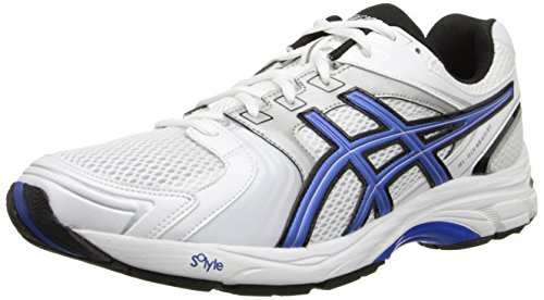 Asics Men's Gel-Tech Walker Neo 4 Walking Shoe,White/Royal/Black,12 M US