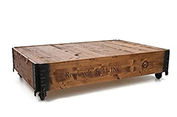 Uncle Joes 75751 Couchtisch QuotRoosevelt Fieldquot Vintage Shabby Chic Holz 124