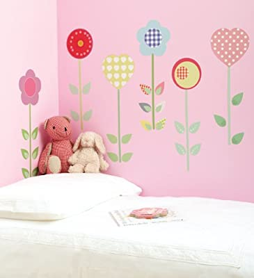 Funtosee Themed Room Decals Polly Patch Flowers by FunToSee