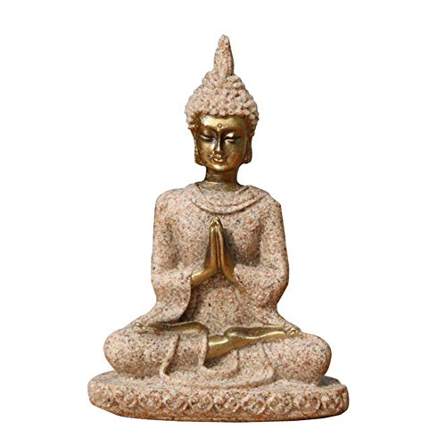 - RedRiver Decorative Stones - 1Pcs The Sandstone Meditation Buddha Statue Sculpture Handmade Figurine Stone Made Buddhism Statue Home Decoration Drop Shipping