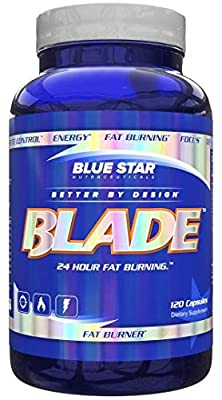 Blue Star Nutraceuticals Blade: Pharmaceutical Grade Weight Loss Pills/Thermogenic Fat Burner Supplement with Metabolism Boosting Capsaicinoids Caffeine/ALCAR, 120 Capsules