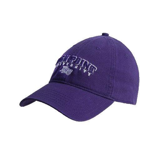 高ポイントパープルTwill Unstructured Low Profile帽子'アーチ型High Point University '   B008ZZUEYE