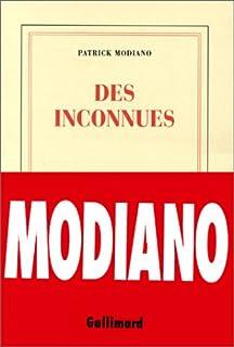 Des inconnues, Modiano, Patrick