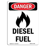 OSHA Danger Sign - -GHS Diesel Fuel | Choose from: Aluminum, Rigid Plastic Or Vinyl Label Decal | Protect Your Business, Construction Site, Warehouse & Shop Area |  Made in The USA