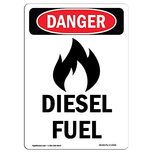 OSHA Danger Sign - -GHS Diesel Fuel | Choose from: Aluminum, Rigid Plastic Or Vinyl Label Decal | Protect Your Business, Construction Site, Warehouse & Shop Area |  Made in The USA by SignMission